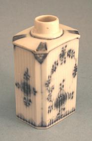 Antique German Porcelain Tea Caddy