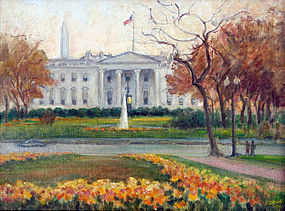 """""""View of the White House"""" by Caroline van Hook Bean"""