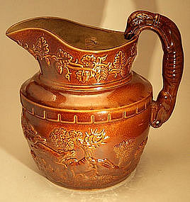 Rare New Jersey Rockingham Pitcher